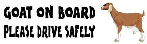 Goat on Board Drive Safely Novelty Car//Caravan Bumper Decal//Sticker