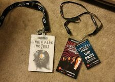 Incubus VIP Pass 2006 Linkin Park Honda Civic Tour 2012 Free Ship