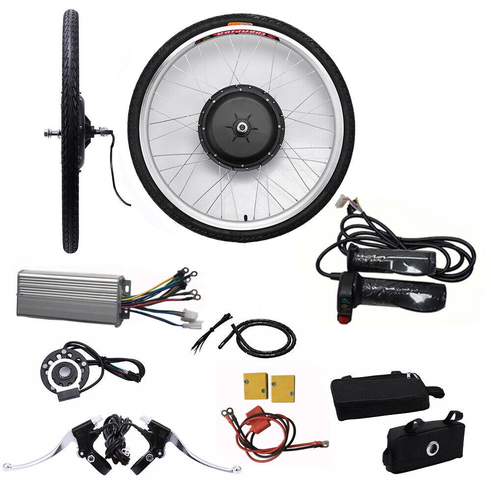 Neu 26  48V 1000W E-Bike Conversion Kit Umbausatz Tool for Front Wheel DHL