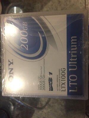 5 X Sony Ultrium 200gb Lto-1 Nastri/cartucce-ltx100g-nuovo, Sigillato- Regalo Ideale Per Tutte Le Occasioni