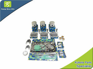Details about New Kubota Compact Tractor Overhaul Kit STD B7200 B8200 on