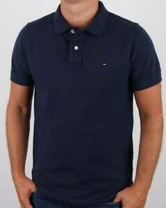 9eb20401 Tommy Hilfiger Cotton Pique Polo Shirt in Navy Blue - short sleeve ...