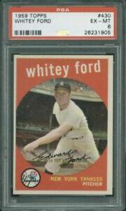 1959 Topps 430 Whitey Ford PSA 6 NEW YORK YANKEES HALL OF FAMER!