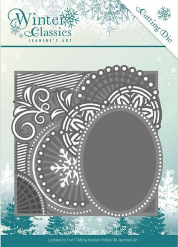 Jeanine/'s Art Cutting Embossing Dies Winter Classics Curly Frame JAD10016