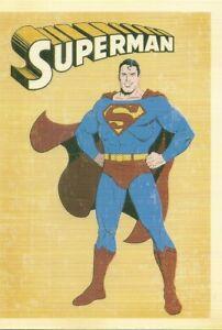 REPRODUCTION-CARTE-POSTALE-SUPERMAN-CARTOON-COMICS-BD-POSTCARD-REPRO
