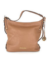 424adc1e663a1 BNWT Michael Kors Womens Chocolate Leather Bedford Belted Large Shoulder Bag