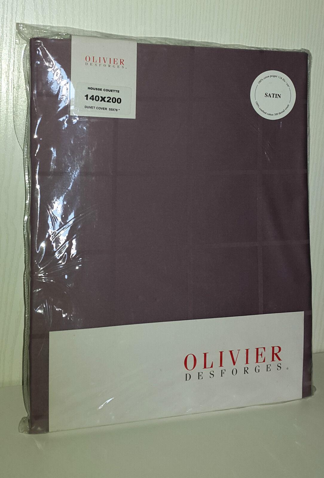 OLIVIER DESFORGES HOUSSE DE COUETTE BAPTISTE 140X200 CM COTON PEIGNE RAISIN