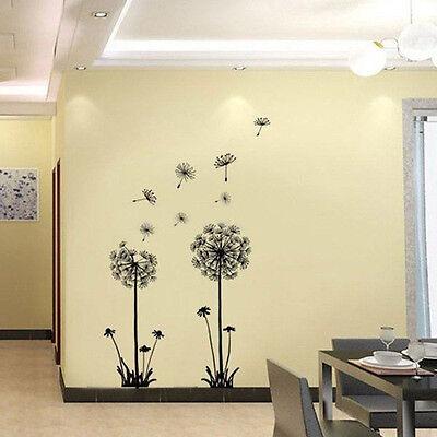 Window Room Dandelion Home Flower Decor Decal Sticker Wall Art