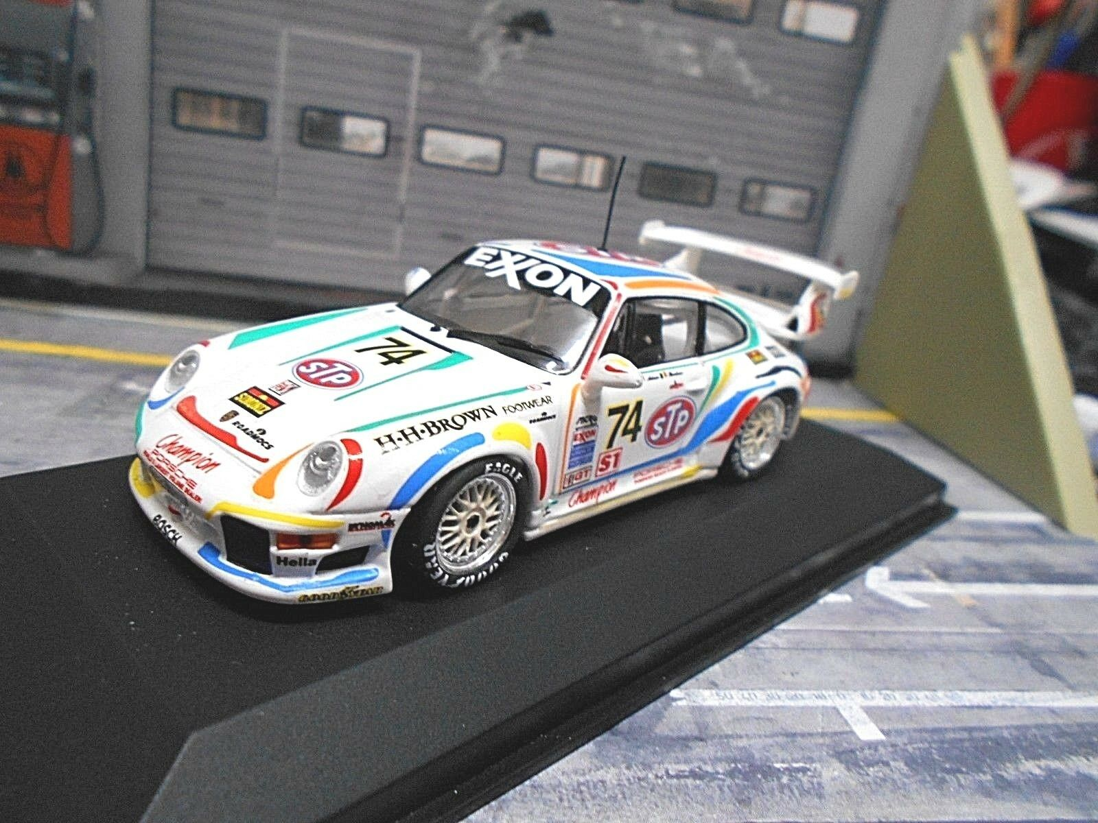 PORSCHE 911 993 gt2 RS 24h DAYTONA 1996 stucco Boutsen  74 STP Minichamps 1 43