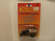 1986 French Matchbox Model A Truck #MB38 - Blue W/ Speed Shop Tampo - 1/64 Scale
