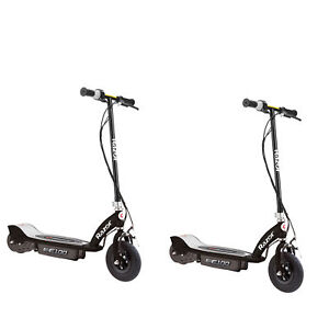 Razor-E100-Kids-Ride-On-24V-Motorized-Electric-Powered-Scooters-Black-2-Pack