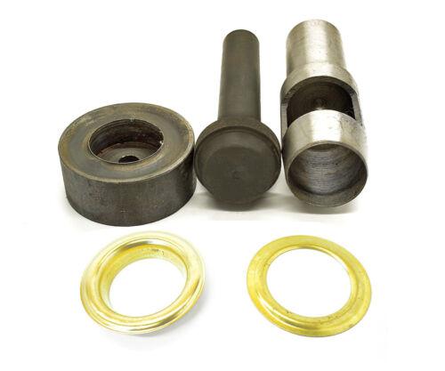 Set von 10 Stk 40mm Ösen Loch Stanze Handpresse Einstellwerkzeug Set Leder