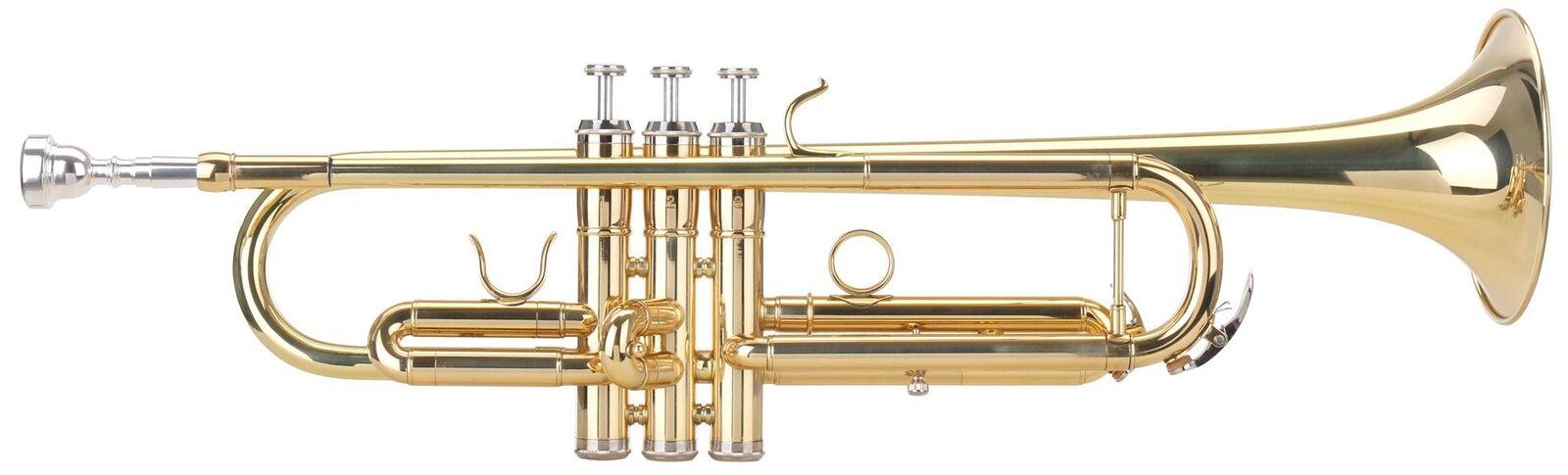 Hochwertige B Trompete Messing Schallbecher und und und Mundrohr mit Koffer Mundstück aed023