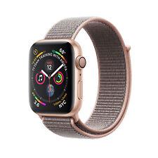 #cybersale New Apple Watch Series 4 44mm Gold Alum Pink Sand Loop Agsbeagle