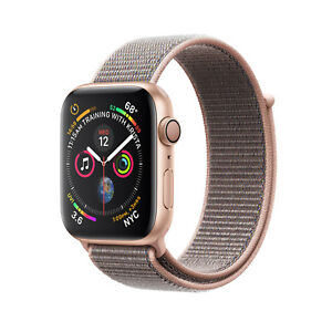 #cybersale New Apple Watch Series 4 44mm Gold Alum Pink Sand Loop Agsbeagle
