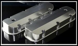 BBC 396 454 496 Chrome Fabricated Aluminum Tall Valve Cover Short bolt Big Block