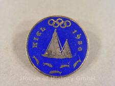 Abzeichen für Teilnehmer an der Olympiade `Kiel 1936`, emaillierte Brosche, 2272