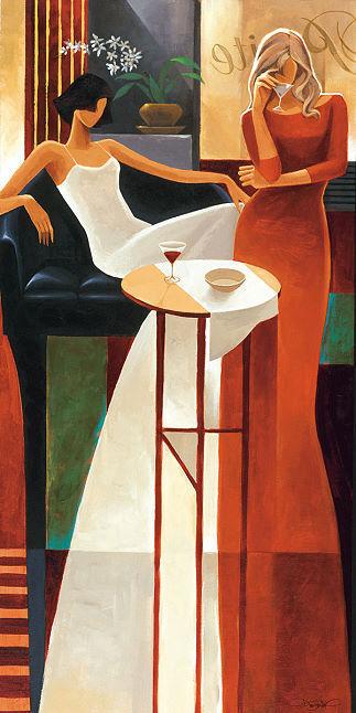 Keith Keith Keith Mallett  Les Anges Barella-Immagine Schermo Bar Donne Vino Bevande 9fc1fd