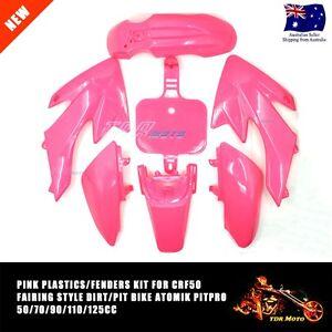 Plastics-Guard-Fairing-Fender-Kit-CRF-50-Style-PIT-PRO-TDR-Trail-Dirt-Bike-PINK