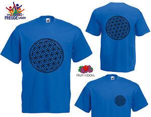Blume-des-Lebens-T-Shirt-Flexdruck-verschiedene-Farben