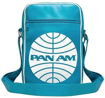 Airline: Pan Am Logo Umhängetasche Schultertasche Sporttasche, türkis: LOGOSHIRT