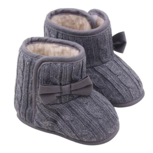 Baby Girl Boy Snow Boots Winter Booties Infant Toddler Newborn Crib Shoes 0-12M