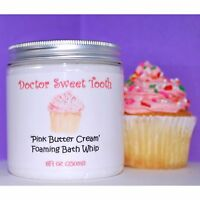 Pink Butter Cream Scented Handmade Foaming Bath Whip Paraben Free 8oz