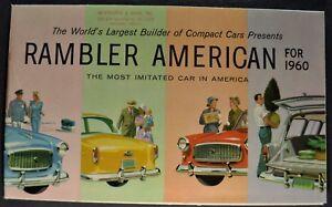 1960 RAMBLER Mini-Brochure CUSTOM,AMERICAN,AMBASSADOR,