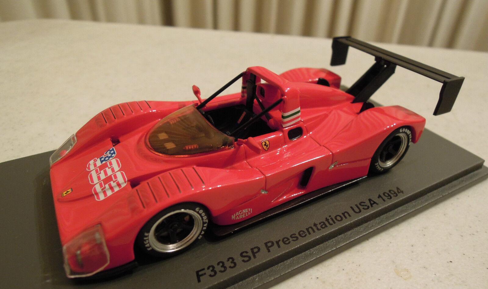 Ferrari 333 Presentation 1994 Spark Model 1 43, New in Box, Ships From USA