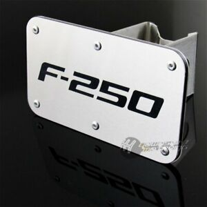 Ford F-250 F250 License Plate Frame Stainless Steel Laser Etched  Bright Chrome