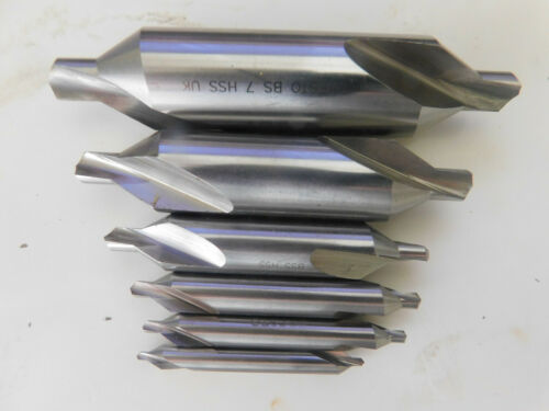 BS2 BS5 BS7 BS3 BS6 Set of 6 Presto HSS Centre Drills BS4
