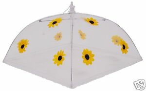 Food-Umbrella-Cover-Square-Net-Strawberry-or-Sunflower-Large-48cm-or-Small-30cm