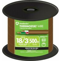 Brown Pvc Jacket 500-ft Solid Copper 18-awg 3-conductor 150-volt Thermostat Wire