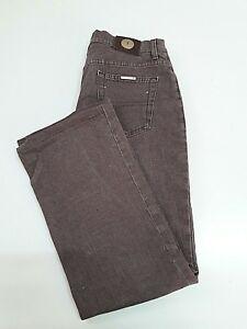 Jeans-uomo-colore-marrone-034-Trussardi-034-TAG-43-100-cotone-made-in-Italy
