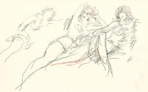 Peter Collins ARCA - c.1970s Graphite Drawing, Studies of Women