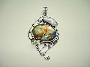 AB-One-of-a-Kind-Labradorite-Biwa-Pearl-Green-Amethyst-925-Silver-Pendant-3-034