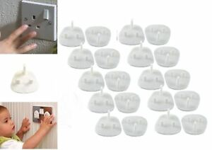 12 Child Safety UK Plug Socket Covers Mains Electrical Protector Inserts Guard 5056141010007