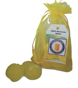 6-Piece-Lemon-Scented-Beeswax-Melts-Hand-Poured-by-Hubbardston-Candle-Co