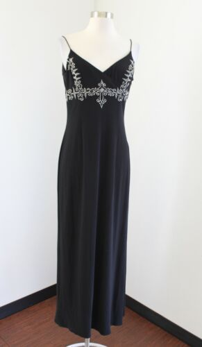 Vtg Dave and Johnny Black Sequin Beaded Evening Pa
