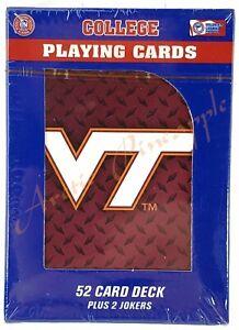 Virginia-Tech-Hokies-Official-NCAA-52-Playing-Card-Deck-2-Jokers-Factory-Sealed