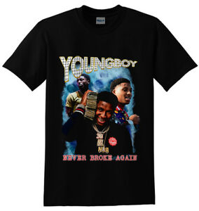 8211ae3e5bc3 YoungBoy Never Broke Again Short Sleeve Black Gildan T shirt M - 2XL ...