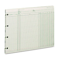 Wilson Jones Accounting 9-1/4 X 11-7/8 100 Loose Sheets/pack Gn2d on Sale