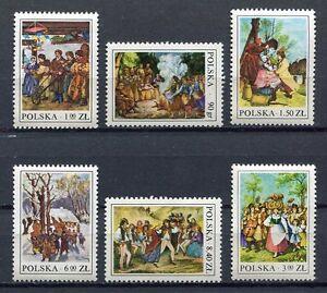 35926-POLAND-1977-MNH-Folklore-6v