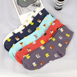 Fashion-Women-Girl-Lovely-Cute-Cat-Socks-Animal-Cartoon-Cotton-Socks-5-Colors