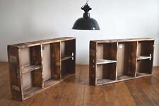 2x Regal Loft Vintage Fabrik Antik Reklame Werbung Wandregal Industriedesign Alt