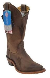 Nocona-Arizona-State-LDASU11-Women-039-s-Brown-Cowhide-Branded-College-Boots