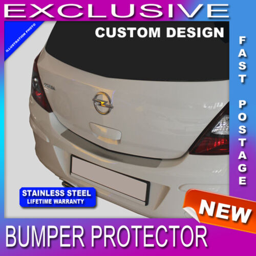 Vauxhall Corsa D Hatchback 2006-2014 REAR BUMPER SILL PROTECTOR STAINLESS STEEL