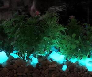 Large aqua glow in the dark rubble aquariums fish tank for Glow in the dark fish tank
