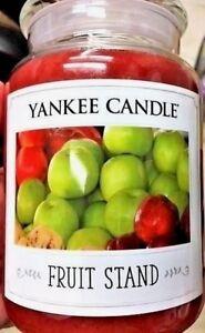 Yankee Candle Fruit Stand FARMHOUSE APPLE ~ Fruit~Large 22 oz.~ WHITE LABEL~NEW