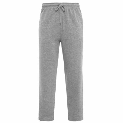 Homme Jogging Sweat Pantalon en polaire brossée taille élastique Pantalon De Gym Pantalon